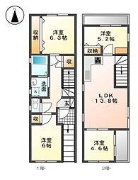 [一戸建] 愛知県名古屋市中区丸の内2丁目 の賃貸【/】の間取り