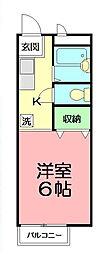 神奈川県横浜市戸塚区戸塚町の賃貸アパートの間取り