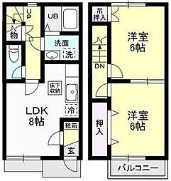 [テラスハウス] 神奈川県愛甲郡愛川町半原 の賃貸【/】の間取り