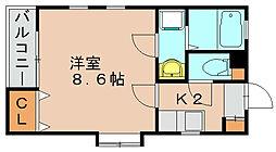 リブレア箱崎駅前C[2階]の間取り