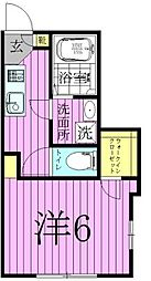 べリエ西綾瀬[1階]の間取り