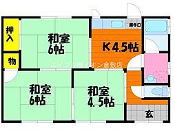[一戸建] 岡山県倉敷市中島丁目なし の賃貸【/】の間取り