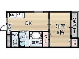 第8薩摩マンション[4階]の間取り