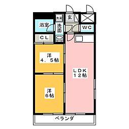 光立マンション[2階]の間取り