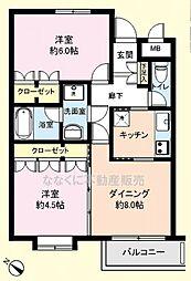 パレ・ドール福生2階 福生駅歩10分