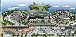 敷地内は共用施設が整い買い物や暮らしに必要な環境が用意されています。