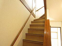 階段は安全の為...