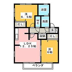 レジデンス黒沢台B棟[2階]の間取り