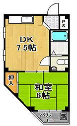 クリーン千島 5階1DKの間取り