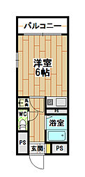 オリエンタル南小倉[2階]の間取り