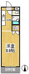 コーポラスKII[3階]の間取り