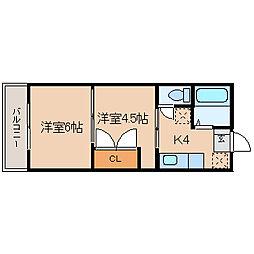 宮城県仙台市泉区上谷刈字向原の賃貸マンションの間取り