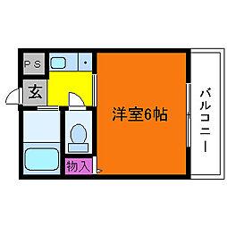 ヴィラ吉田[3階]の間取り
