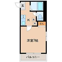 メゾンドゴール[1階]の間取り