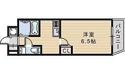 クレイドル西田辺[601号室]の間取り