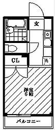アサヒオーキッドハイム[1階]の間取り