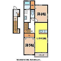 プランタンII[2階]の間取り