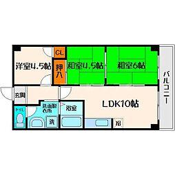 メゾン・ド・ソレイユ 9階3LDKの間取り