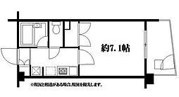 東京都大田区北千束2丁目の賃貸マンションの間取り