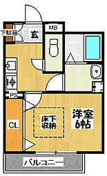 大阪府東大阪市森河内東1丁目の賃貸アパートの間取り