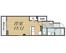 JR成田線 成田駅 バス8分 土屋下車 徒歩1分の賃貸アパート 1階ワンルームの間取り