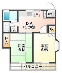 シティプラザK[2階]の間取り