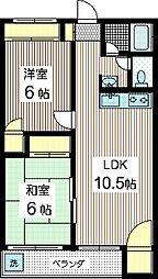 大津マンション[2階]の間取り