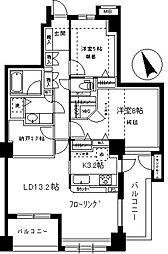 フォルスコート学芸大学[3階]の間取り