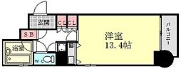ライオンズマンション西長堀[901号室]の間取り