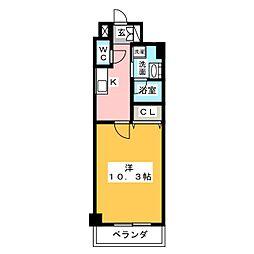 ロイジェント新栄III[8階]の間取り