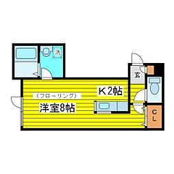 北海道札幌市東区北十六条東10丁目の賃貸アパートの間取り