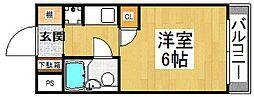 アーバンネスト吉田[1階]の間取り