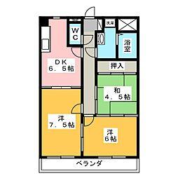 アベニューみわ[3階]の間取り