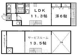 Shining壬生離宮 4階1SLDKの間取り