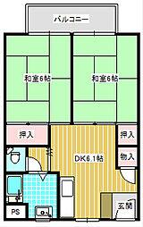UR住吉団地[4-531号室]の間取り