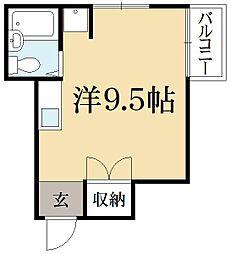 三宅アパートB棟[2階]の間取り