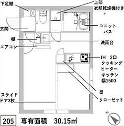 新築 レスタ大井町[205号室号室]の間取り
