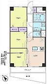 2LDK・専有面積48.6平米・バルコニー面積7.56平米