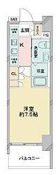 京成押上線 青砥駅 徒歩13分の賃貸マンション 7階1Kの間取り