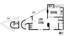 逆瀬川壱番館[2階]の間取り