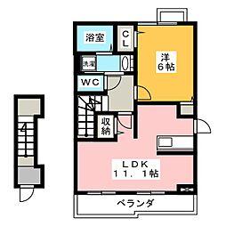 グレイスシティC[2階]の間取り
