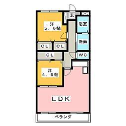 シティコーポ第II明円[1階]の間取り