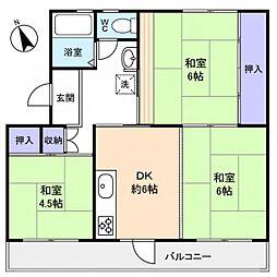 高津団地6街区6棟[3階]の間取り