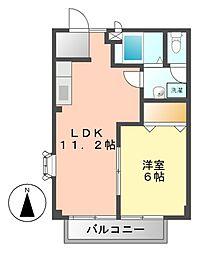 愛知県名古屋市中川区小本2丁目の賃貸マンションの間取り