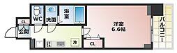 Osaka Metro谷町線 四天王寺前夕陽ヶ丘駅 徒歩6分の賃貸マンション 14階1Kの間取り