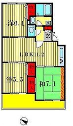 サンフィールド松戸[1階]の間取り