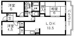 M TAKAI(エムタカイ)[302号室号室]の間取り
