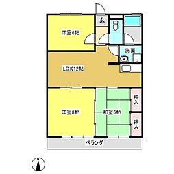 e−ホーム御幸[202号室]の間取り