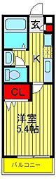 セナリオコート柏5[2階]の間取り