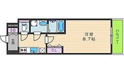 レオンコンフォート桜ノ宮[8階]の間取り